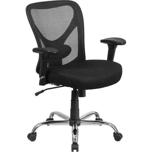 Gallery - Big & Tall Office Chair  Adjustable Height Mesh Swivel Office Chair with Wheels