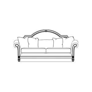 Leather/Fabric Wood Trim Sofa