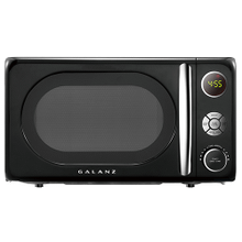 Galanz 0.7 Cu Ft Retro Microwave Oven in Vinyl Black