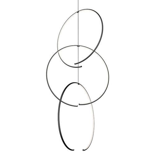 Sonneman - A Way of Light - Torc LED Pendant [Size=Triple Pendant, Color/Finish=Satin Black]
