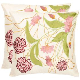 Pink Ruby Pillow - Pink / Cream