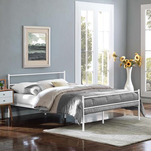 Alina Full Platform Bed Frame in White