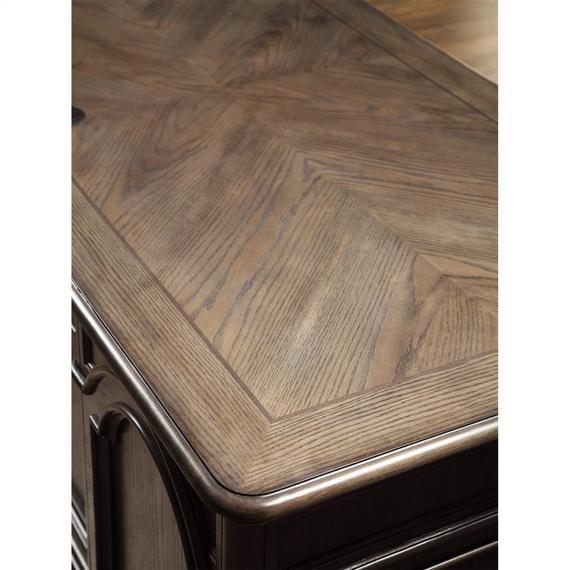 Riverside - Belmeade - Executive Desk - Old World Oak Finish