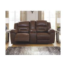 Stoneland DBL REC PWR Loveseat w/Console Chocolate