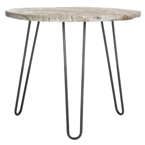 Mindy Wood Top Dining Table - Natural / Grey