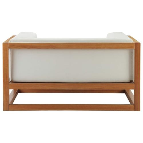 Newbury 2 Piece Outdoor Patio Premium Grade A Teak Wood Set in Natural White
