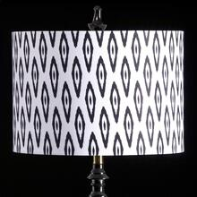 IKAT MIXOLOGY SHADE  MEDIUM  11in X 16in  Available in three sizes this lighting collection has
