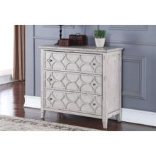 Lucia 3-Drawer Chest in Antique Gray