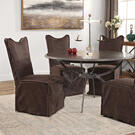 Delroy Armless Chair, Chocolate, 2 Per Box Product Image