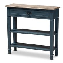 See Details - Baxton Studio Dauphine French Provincial Blue Spruce Fiinished Wood Accent Console Table