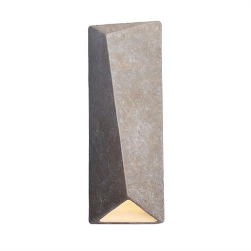 Large Diagonal Rectangle LED Outdoor Wall Sconce (Closed Top)
