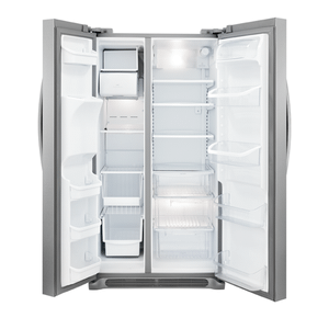 Frigidaire Gallery 26 Cu. Ft. Side-by-Side Refrigerator (This may be a Stock Photo, actual unit (s) appearance may contain cosmetic blemishes. Please call store if you would like additional pictures). This unit carries our 6 Month warranty, MANUFACTURER WARRANTY and REBATE NOT VALID with this item. ISI 40489