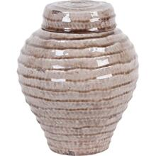 View Product - Salyan Large Nude Ceramic Gloss Ripple Vase