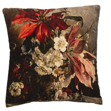 Velvet Poinsettia Pillow