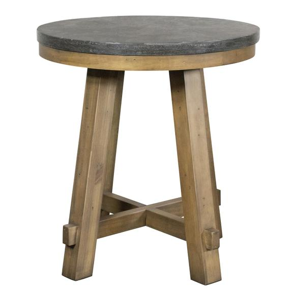 Riverside - Weatherford - Round Side Table Top - Bluestone Finish