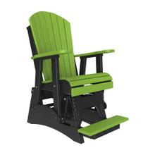 See Details - 2 Adirondack Balcony Glider Chair, Lime-green-black