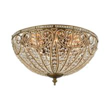 Elizabethan 8-Light Flush Mount in Dark Bronze with Clear Crystal