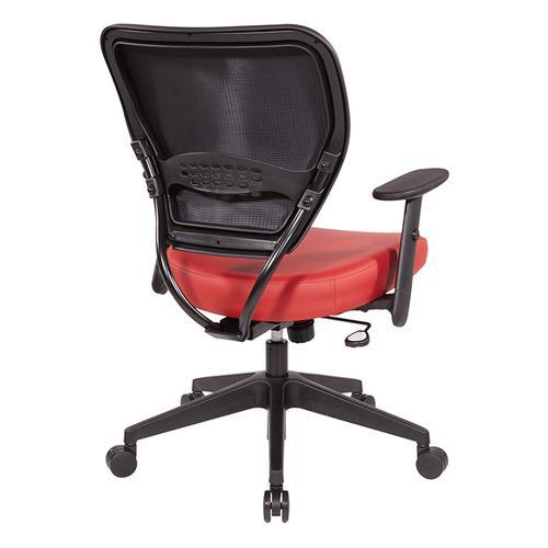 Antimicrobial Dillon Seat and Back Task Chair With Adjustable Angled Arms and Angled Nylon Base.