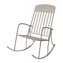 Distressed Grey Rocking Chair