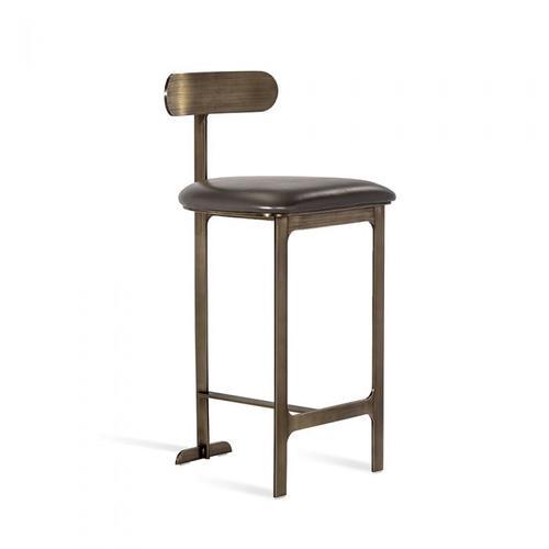 Hollis Counter Stool - Grey/ Bronze