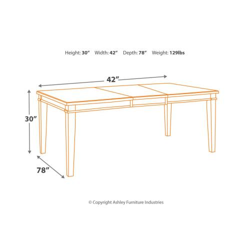 Danbeck Rect Dining Room Ext Table Chipped White