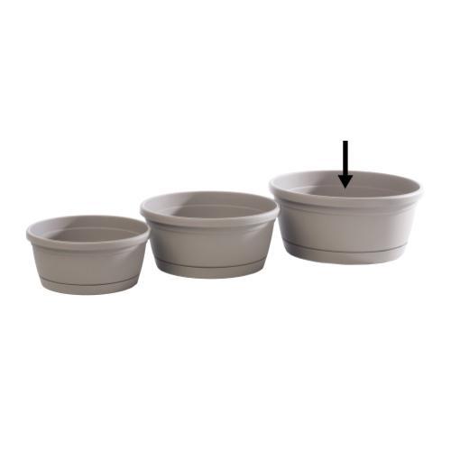 Libis Plant Bowl w/ attached saucer, Large
