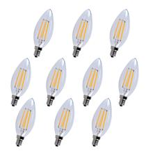 LED E12 CANDELABRA, 3000K, 300 °, CRI80, ES, UL/CUL, 4W, 40W EQUIVALENT, 15000HRS, LM300, DIMMABLE, 2 YEARS WARRANTY, INPUT VOLTAGE 120V 10 PACK