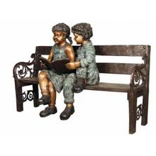 Girl and boy on bench