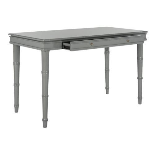 Noely Modern Coastal Writing Desk - Grey