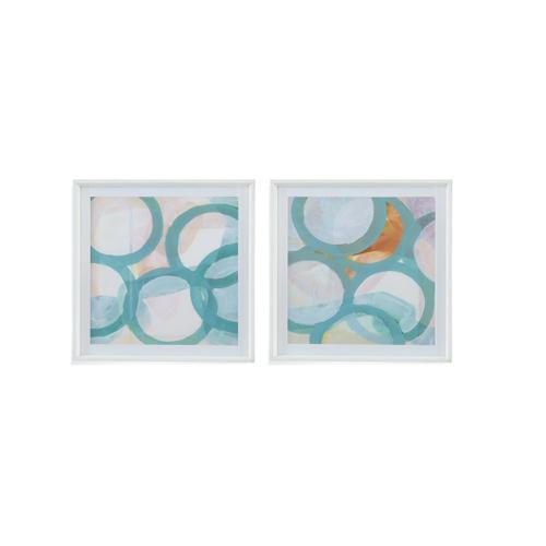 Bassett Mirror Company - 2 PC Aqua Circles
