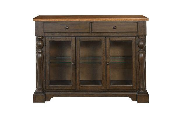Dunmore Sideboard, Light Toffee Top with Brown Base