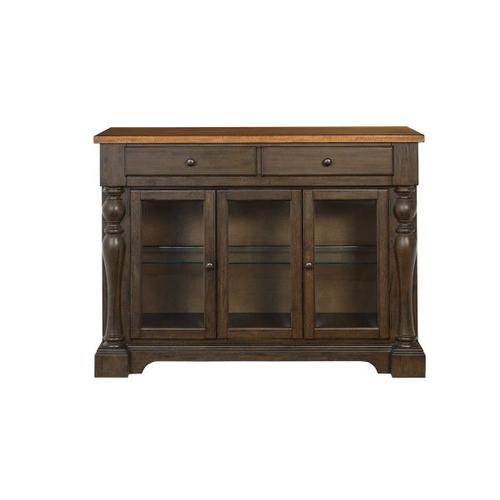Gallery - Dunmore Sideboard, Light Toffee Top with Brown Base