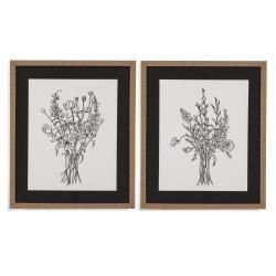 2 Pc Black & White Bouquet
