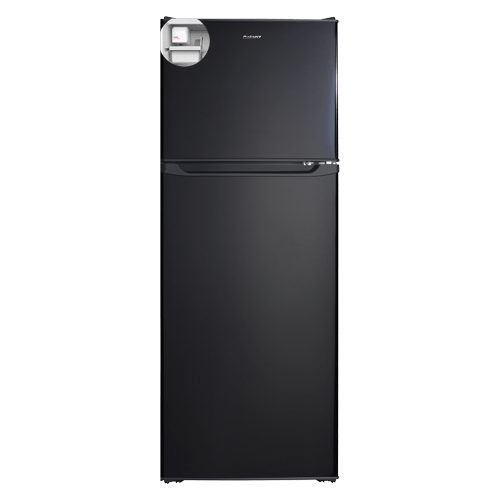 Galanz 10.0 Cu Ft Top Mount Refrigerator with Built-in Ice Maker in Black