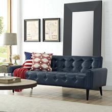 Delve Upholstered Vinyl Sofa in Blue