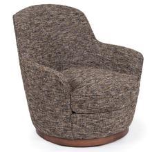 See Details - Heathered Black Brown Soft Tweed Swivel Chair