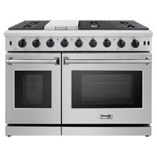 48 Inch Gas Range In Stainless Steel - Liquid Propane