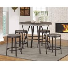 7877 NATURAL 5PC Metal Counter Height SET