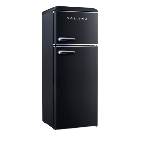 Galanz 7.6 Cu Ft Retro Top Mount Refrigerator in Vinyl Black