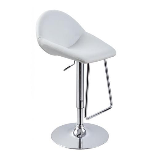 Modrest Mel - Contemporary White Eco-Leather Bar Stool