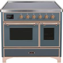 "40"" Inch Blue Grey Freestanding Range"