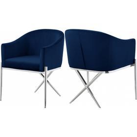 """Xavier Velvet Dining Chair - 25.5"""" W x 24.5"""" D x 31.5"""" H"""