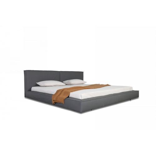 Modrest Haven - Modern Grey Full Leather Bed