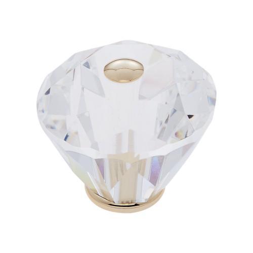 24k Gold 40 mm Diamond Cut Knob