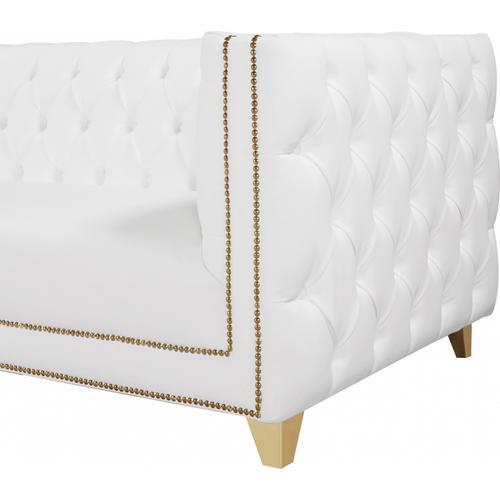 """Michelle Faux Leather Sofa - 90"""" W x 34"""" D x 30"""" H"""