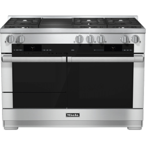 MieleHR 1955-2 G - 48 inch range Dual Fuel with M Touch controls, Moisture Plus and M Pro dual stacked burners