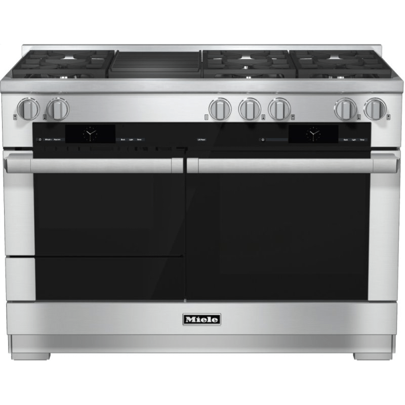 HR 1955-2 G - 48 inch range Dual Fuel with M Touch controls, Moisture Plus and M Pro dual stacked burners