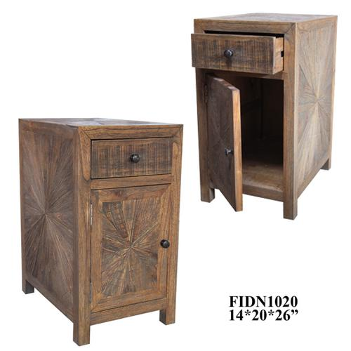 """Crestview Collections - 14X20X26"""" SOLID MINDI WD RUSTIC ACCENT CABINET,1PC/ 4.92'"""