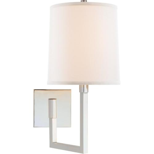 Visual Comfort BBL2028SS-L Barbara Barry Aspect 11 inch 75 watt Soft Silver Swing-Arm Wall Light