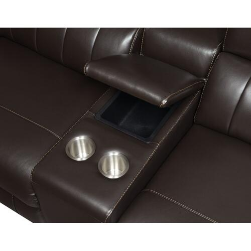 Nara 6-Piece Leather Dual-Power Reclining Sectional
